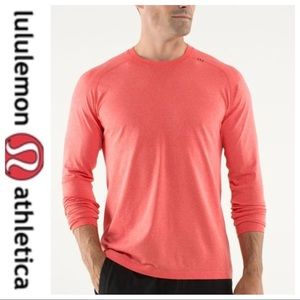 💕SALE💕 Lululemon Coral Mens Long Sleeve Top